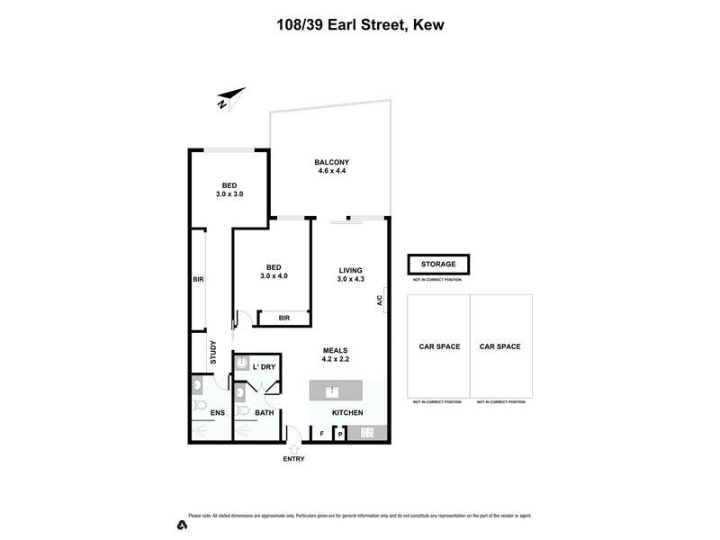 108/39 Earl Street, Kew, Vic 3101 - floorplan