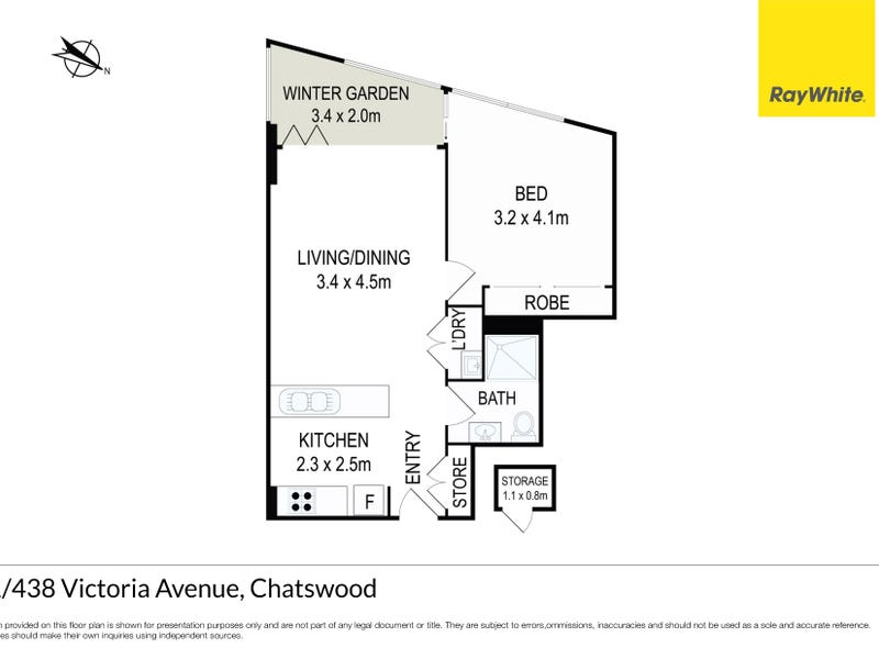2501/438 Victoria Avenue, Chatswood, NSW 2067 - floorplan
