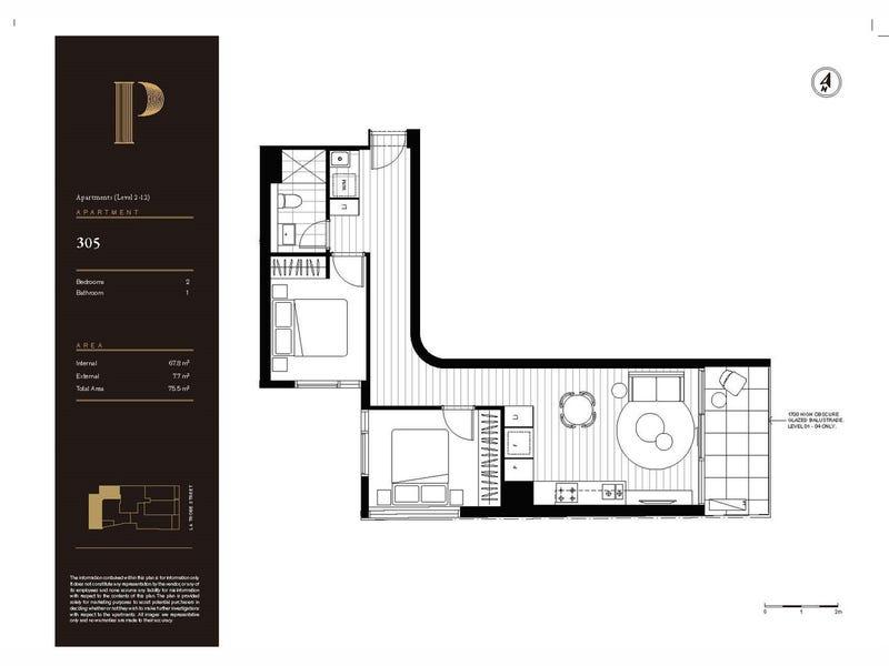 305 & 1801/141 La Trobe Street, Melbourne, Vic 3000 - floorplan
