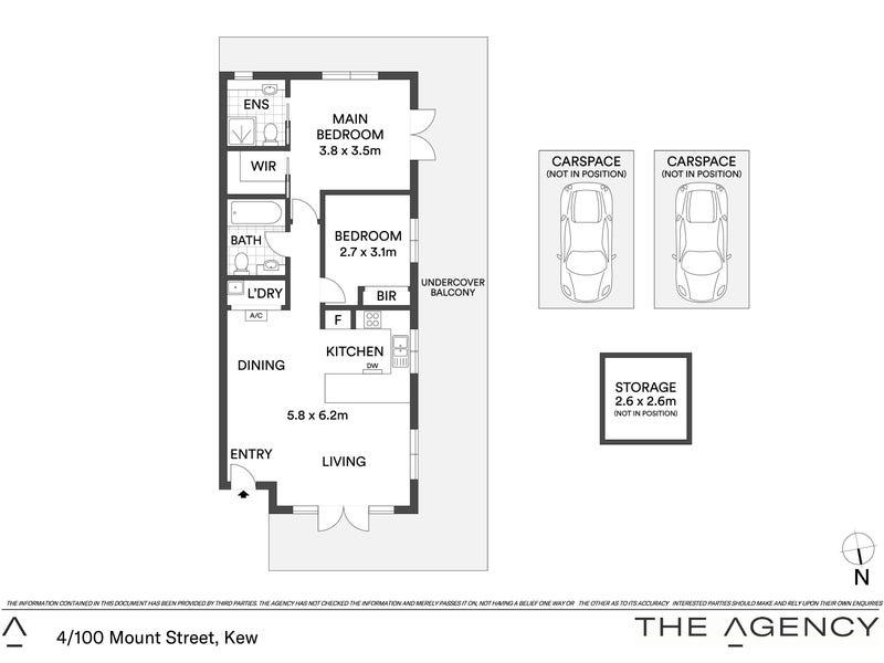 4/100 Mount Street, Kew, Vic 3101 - floorplan