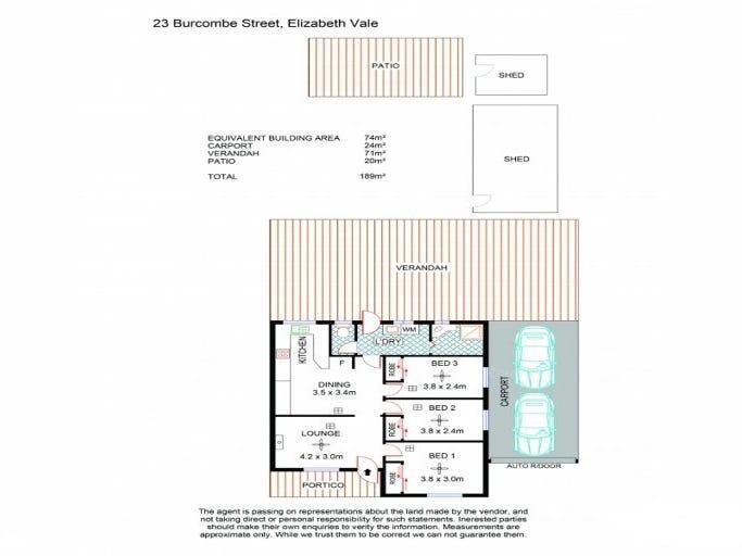 23 Burcombe Street, Elizabeth Vale, SA 5112 - floorplan