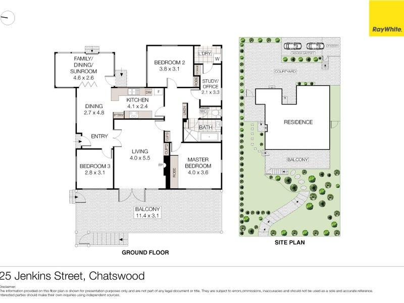25 Jenkins Street, Chatswood, NSW 2067 - floorplan