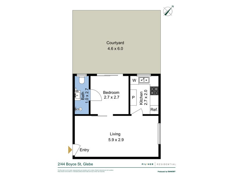 2/44 Boyce Street, Glebe, NSW 2037 - floorplan