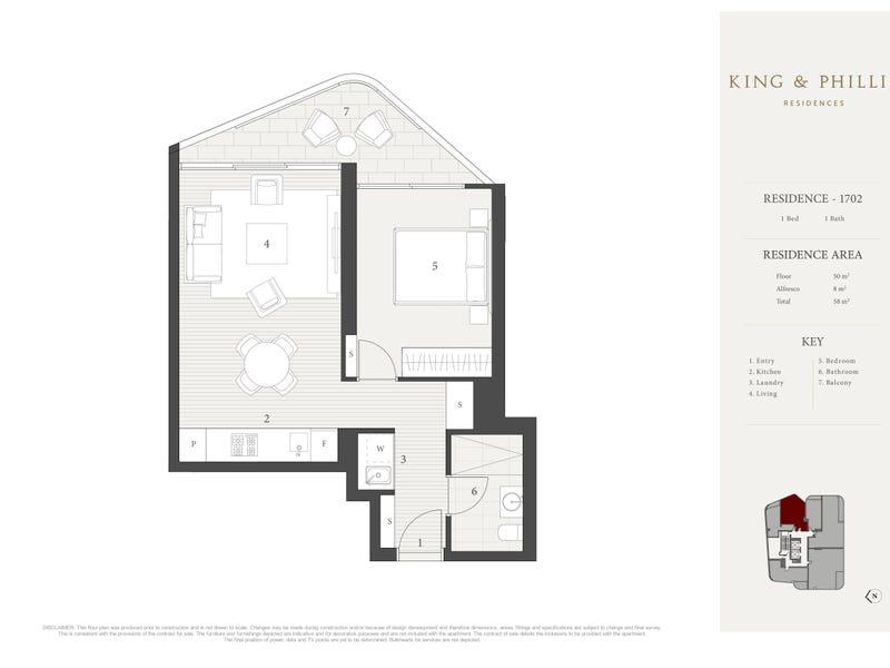 1702/148 King Street, Sydney, NSW 2000 - floorplan