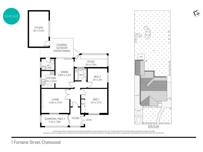 1 Fontaine Street, Chatswood, NSW 2067 - floorplan
