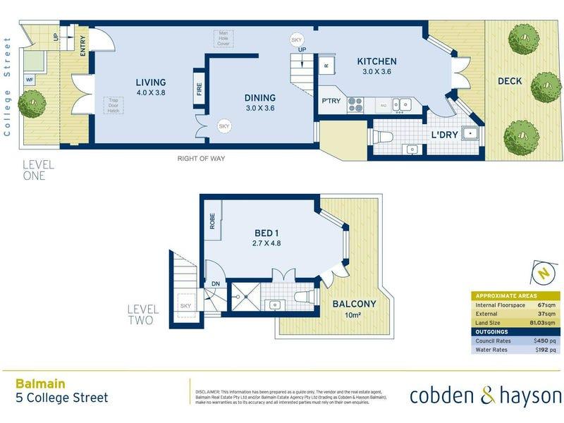 5 College Street, Balmain, NSW 2041 - floorplan