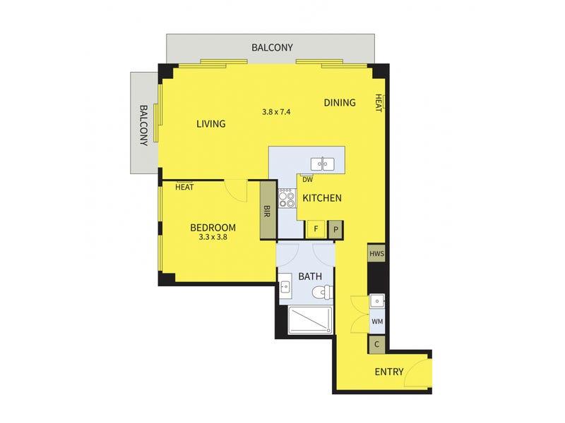 43/172 William Street, Melbourne, Vic 3000 - floorplan