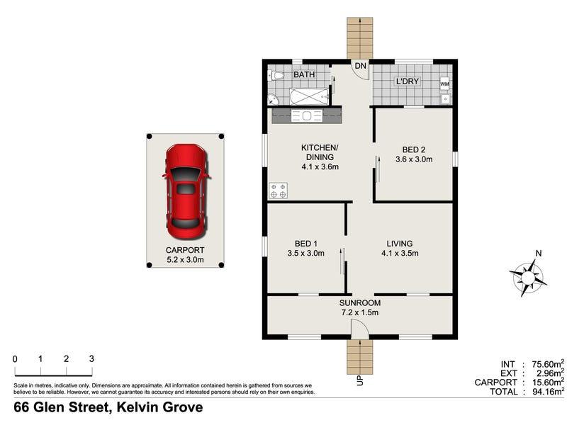 66 Glen Street, Kelvin Grove, Qld 4059 - floorplan