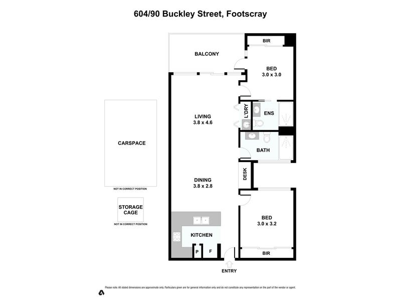 604/90 Buckley Street, Footscray, Vic 3011 - floorplan