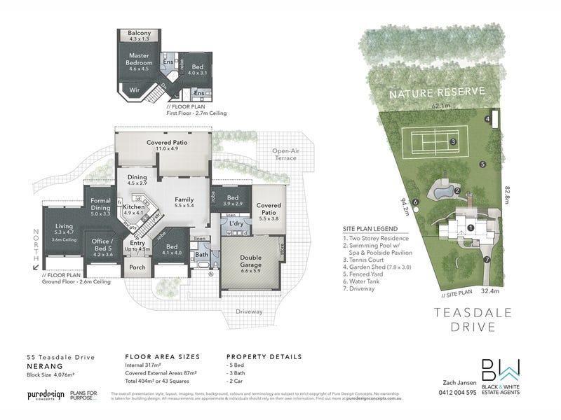 55 Teasdale Drive, Nerang, Qld 4211 - floorplan