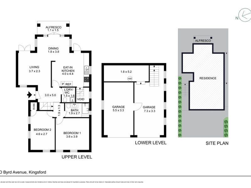 1D Byrd Avenue, Kingsford, NSW 2032 - floorplan