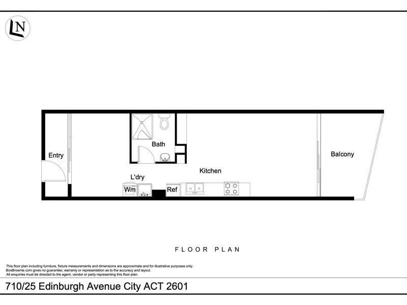 710/25 Edinburgh, City, ACT 2601 - floorplan