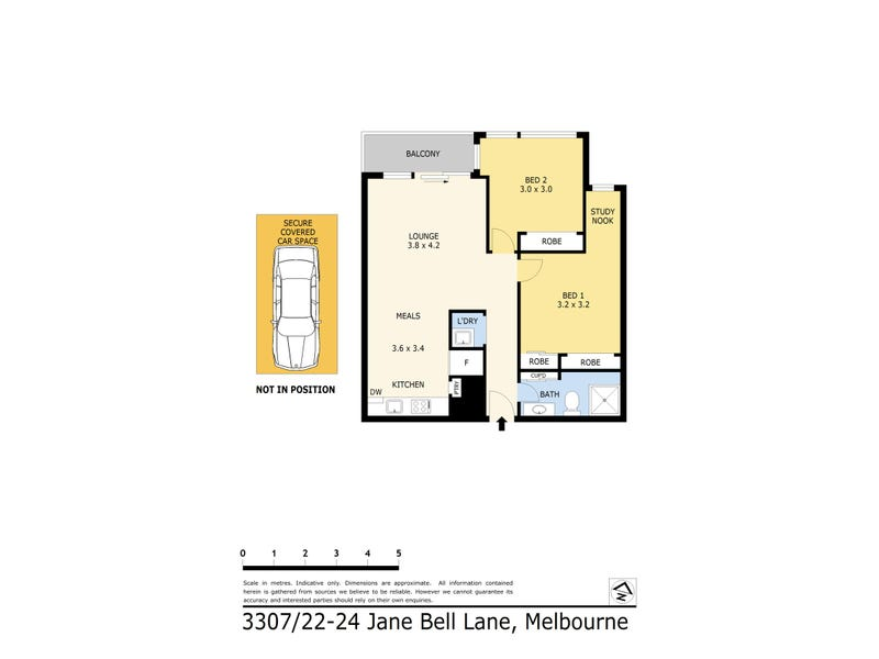 3307/22-24 Jane Bell Lane, Melbourne, Vic 3000 - floorplan