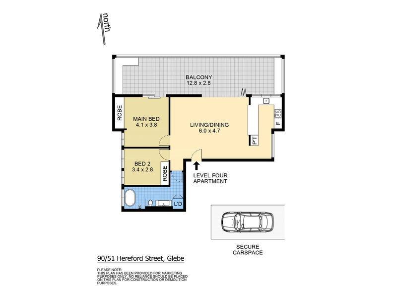 90/51 Hereford Street, Glebe, NSW 2037 - floorplan