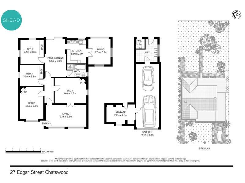27 Edgar Street, Chatswood, NSW 2067 - floorplan