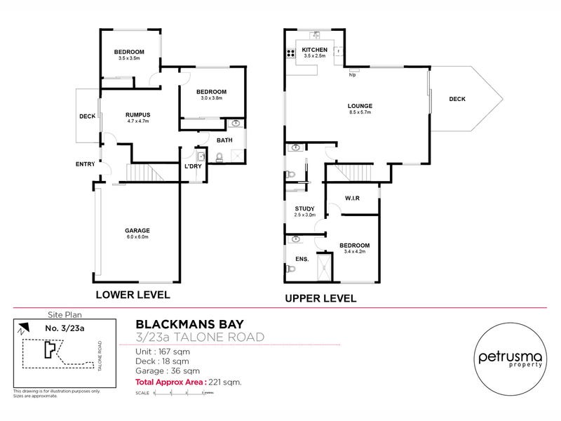 3/23a Talone Road, Blackmans Bay, Tas 7052 - floorplan