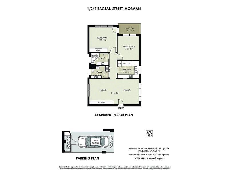 1/247 Raglan Street, Mosman, NSW 2088 - floorplan