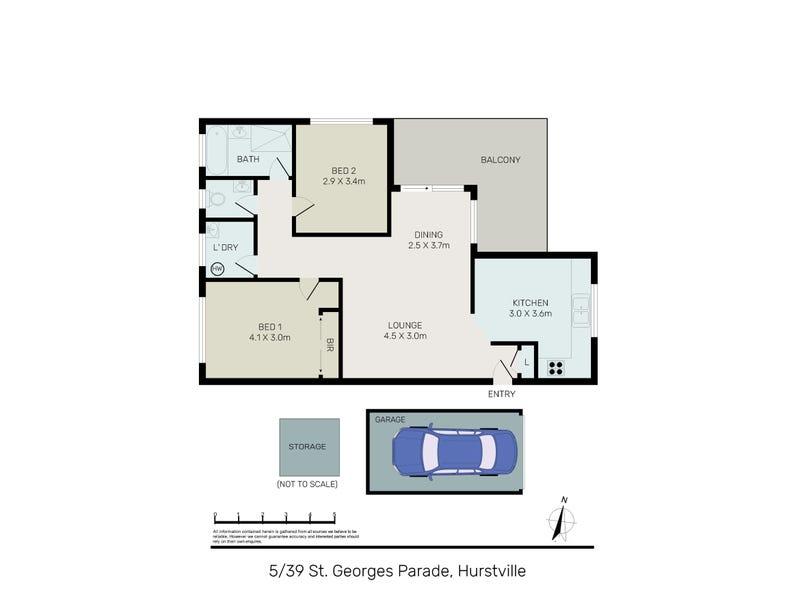5/39 St Georges Parade, Hurstville, NSW 2220 - floorplan