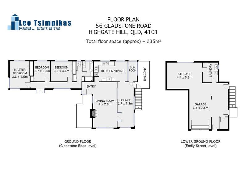 56 Gladstone Road, Highgate Hill, Qld 4101 - floorplan