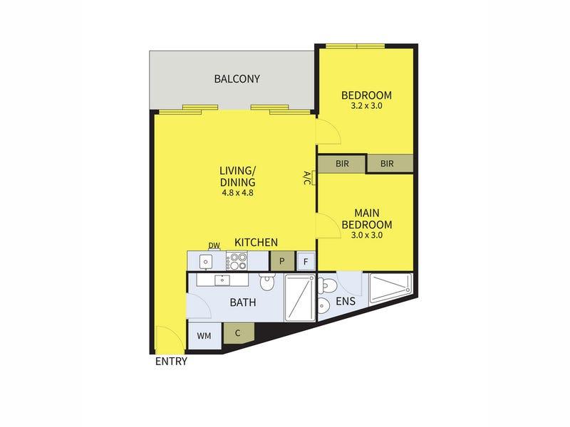 1905/673 La Trobe Street, Docklands, Vic 3008 - floorplan