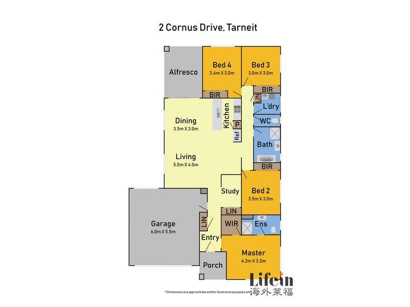 2 Cornus Drive, Tarneit, Vic 3029 - floorplan
