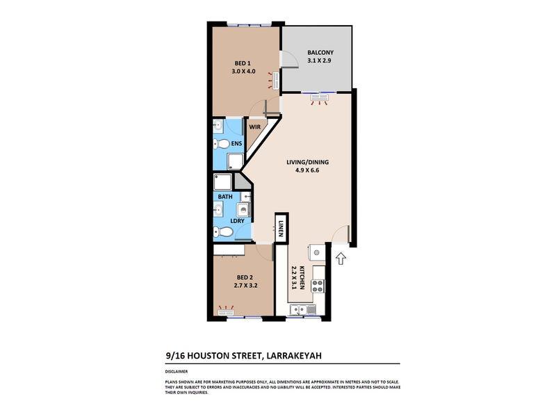 9/16 Houston Street, Larrakeyah, NT 0820 - floorplan
