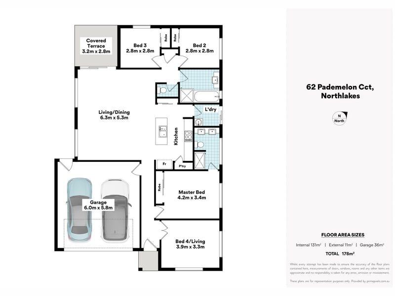62 Pademelon Circuit, North Lakes, Qld 4509 - floorplan