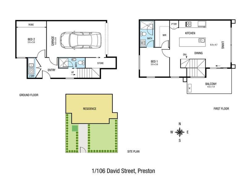 106 David Street, Preston, Vic 3072 - floorplan