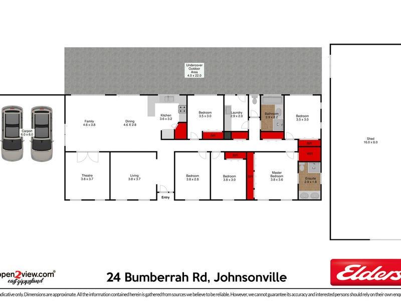 24 Bumberrah Road, Johnsonville, Vic 3902 - floorplan