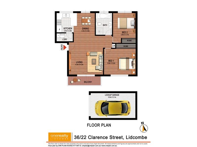 36/22 Clarence St, Lidcombe, NSW 2141 - floorplan