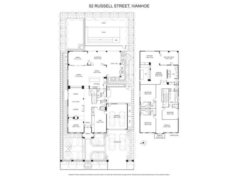 52 Russell Street, Ivanhoe, Vic 3079 - floorplan
