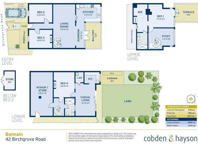 42 Birchgrove Road, Balmain, NSW 2041 - floorplan