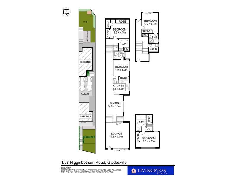 1/58 Higginbotham Road, Gladesville, NSW 2111 - floorplan