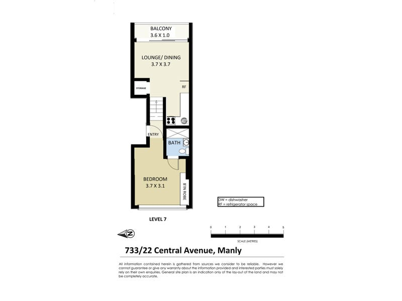 733/22 Central Avenue, Manly, NSW 2095 - floorplan