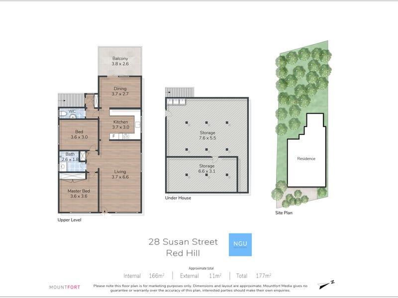 28 Susan Street, Red Hill, Qld 4059 - floorplan