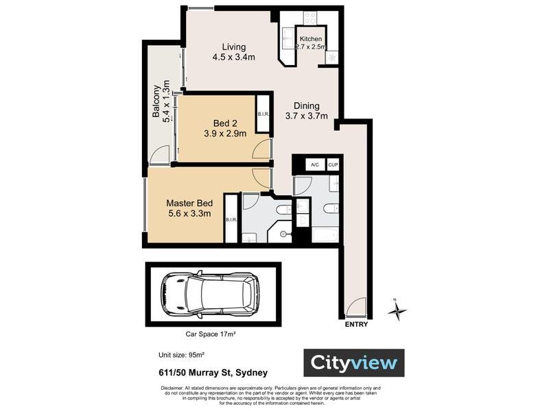 611/50 Murray St, Sydney, NSW 2000 - floorplan