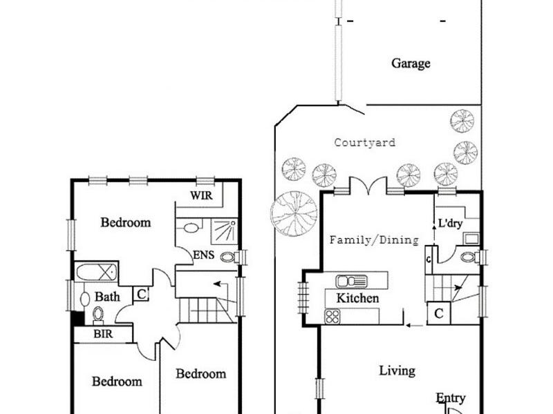 51 Marion St, Fitzroy, Vic 3065 - floorplan