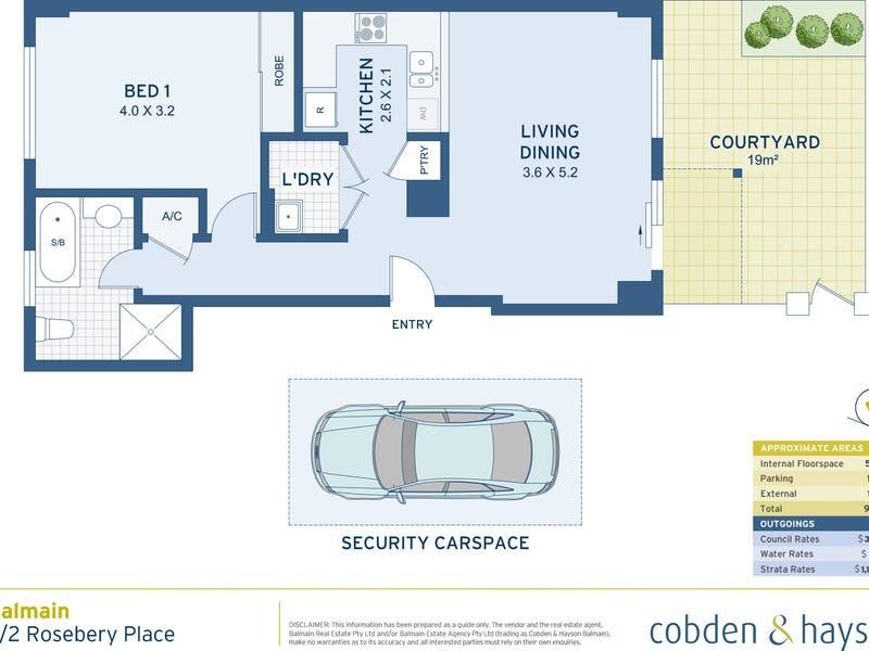 7/2 Rosebery Place, Balmain, NSW 2041 - floorplan
