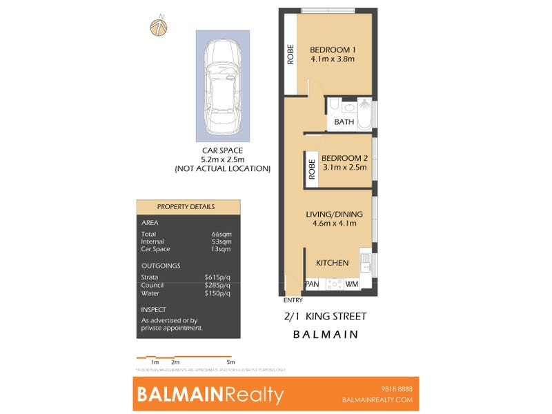 2/1 King Street, Balmain, NSW 2041 - floorplan