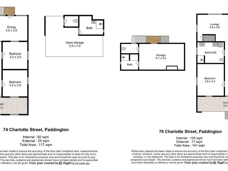 74 & 76 Charlotte Street, Paddington, Qld 4064 - floorplan