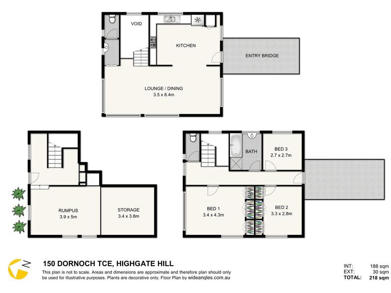 150 Dornoch Terrace, Highgate Hill, Qld 4101 - floorplan