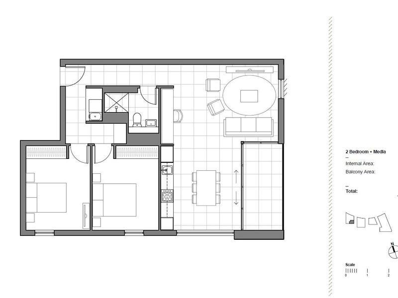 Lvl 6/2  Cowper Street, Glebe, NSW 2037 - floorplan