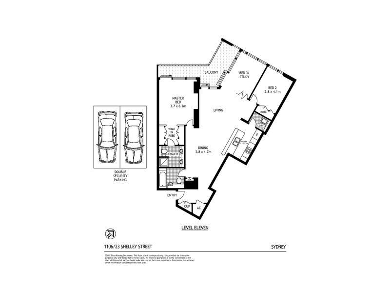 1106/23 Shelley Street, Sydney, NSW 2000 - floorplan