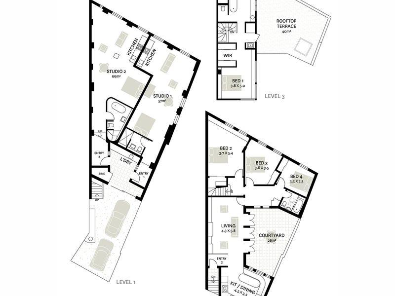 2A West Avenue, Darlinghurst, NSW 2010 - floorplan