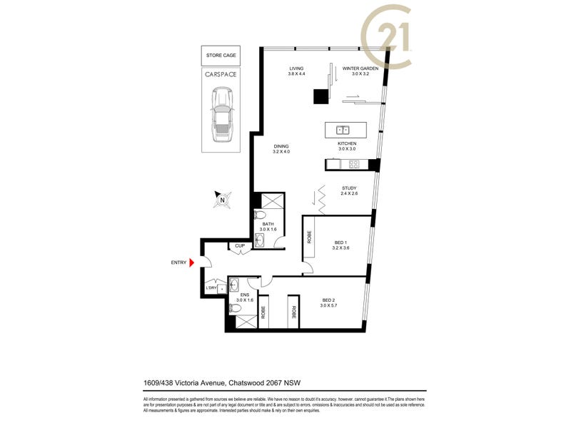 1609/438 Victoria Street, Chatswood, NSW 2067 - floorplan