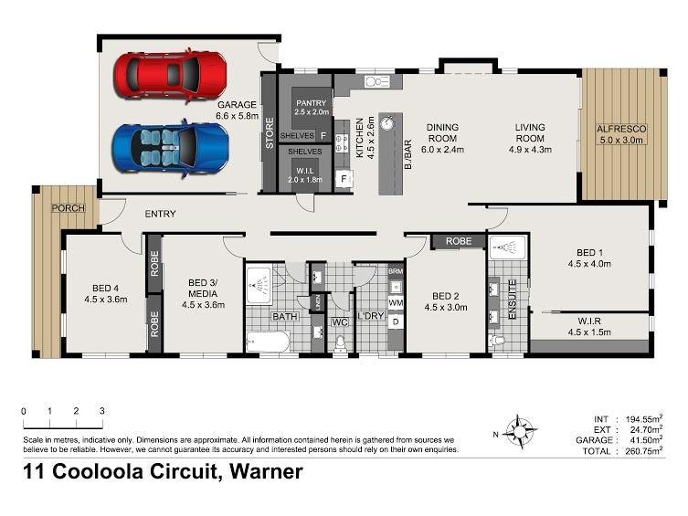 11 Cooloola Circuit, Warner, Qld 4500 - floorplan