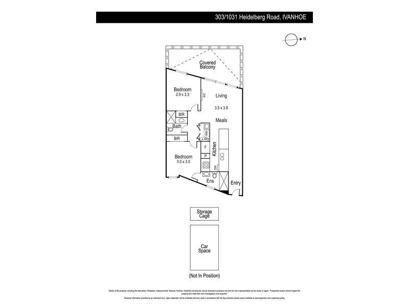 303/1031 Heidelberg Road, Ivanhoe, Vic 3079 - floorplan