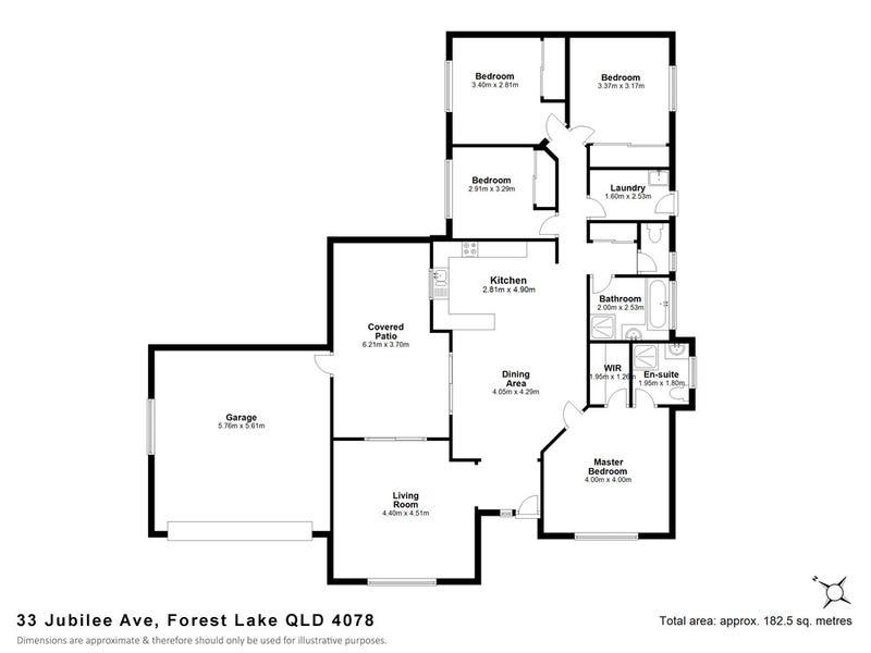 33 Jubilee Avenue, Forest Lake, Qld 4078 - floorplan