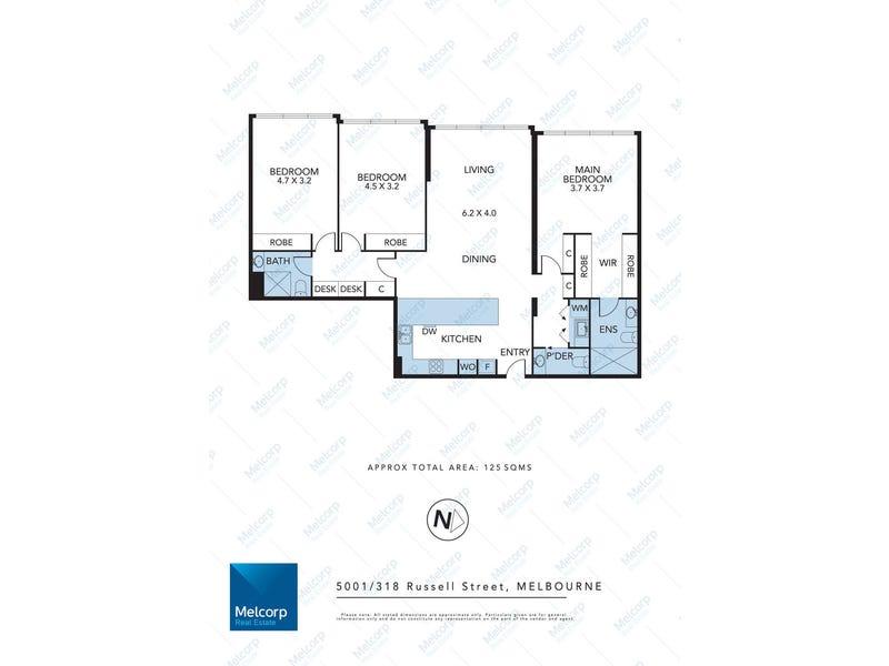 5001/318 Russell Street, Melbourne, Vic 3000 - floorplan