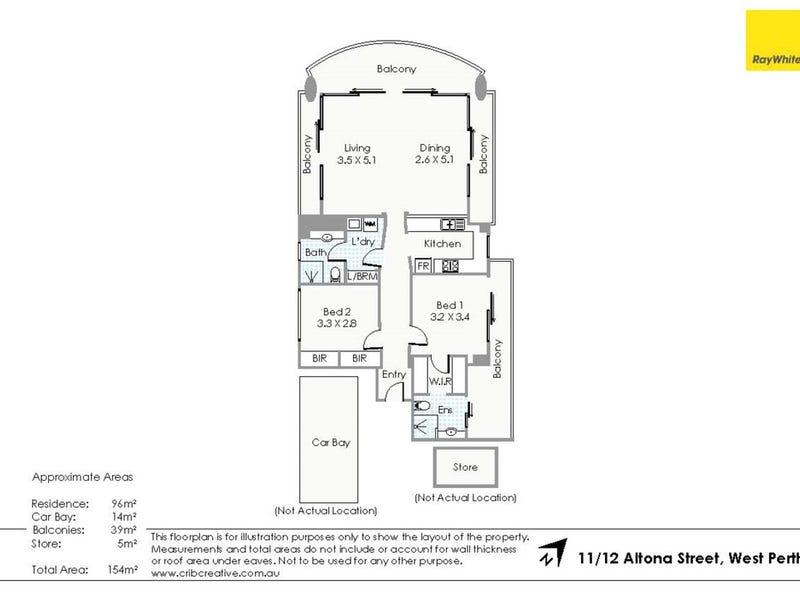 11/12 Altona Street, West Perth, WA 6005 - floorplan